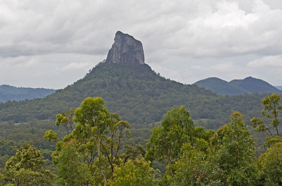 Mt Coonowrin (Crookneck) - 377 metres  Taken from Glasshouse Mountains Lookout - February 2010