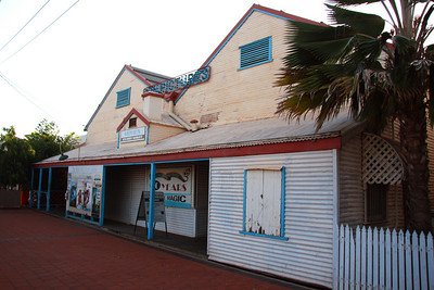 Sun Picture Theatre, like most of the old buildings in Broome has an interesting history, including the fact that it iis perhaps the only picture theatre in the world to have been subjected to continual tidal flooding - read more here  http://www.sunpictures.com.au/history.html