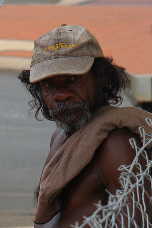 Indigenous Australian - I love weather beaten faces, faces that tell a lifetime of stories.  I guess this is street photography, spur of the moment, spontaneous decision.  I shot it in Broome in far north western Australia in January 2008.