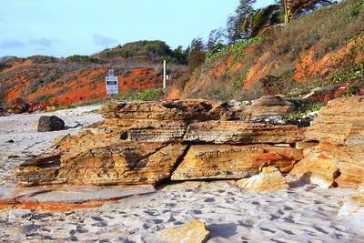 I love the rock formations on this beach - middle of the day - sun is ultra bright.