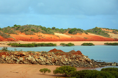 Closer view of the red dunes.