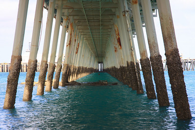 Under the jetty.