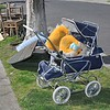 "London / Steelcraft Consort pram 1976 model in ""Navy Weavex"" vinyl trim. Remarkable condition!"