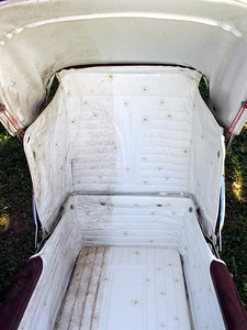 As you can see by this partial restoration, there is hope for this pram yet!