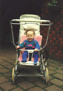 Caitlin photo date:1987- Pram 1974 Steelcraft Regal .jpg