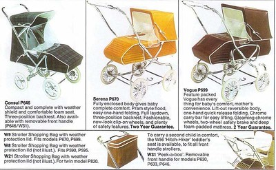 Vintage Steelcraft prams 1973
