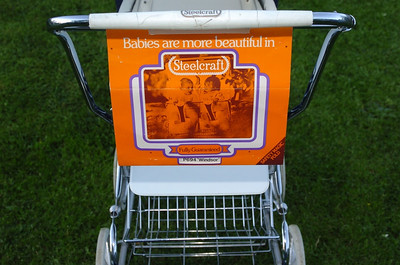 Vintage steelcraft windsor pram 11
