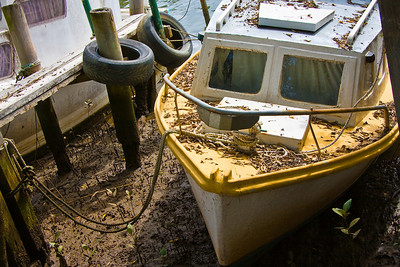 Monday 14 April 2008 - Forgotton, uncared for - found this old boat down at Wynnum near Breakwater Park.