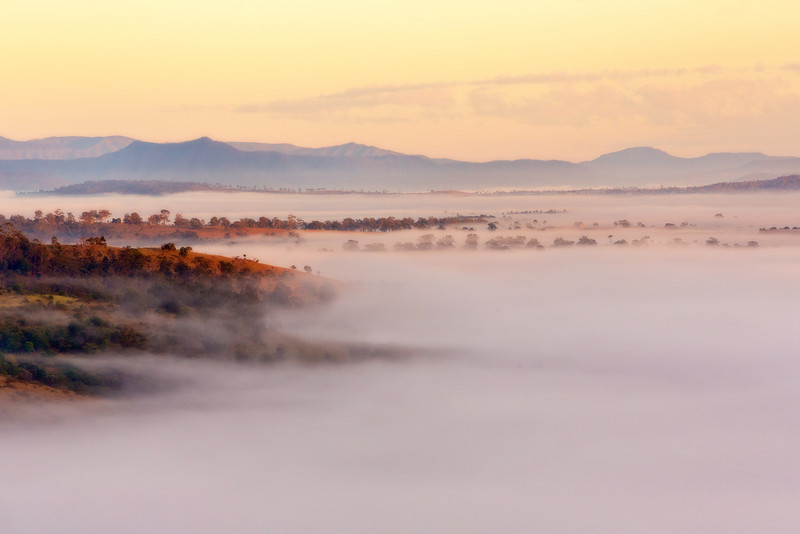 Scenic Rim Under a Blanket of Fog
