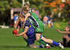 22 September 2012 - The women's match at the Aussie Rules Euro Cup at Peffermill, Edinburgh.