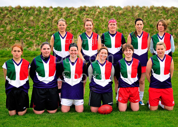 Kilrea Kukaburras v Dublin Angels, the first ever ladies game played in Scotland. Part of the Haggis Cup tournament at Peffermill on 21 April 2012.