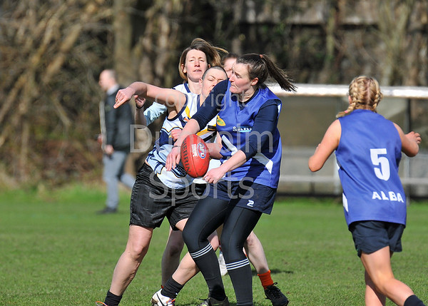 9 April 2016 at Peffermill Sports Complex, Edinburgh. The Haggis Cup Australian Rules Football Tournament. The Women's Match