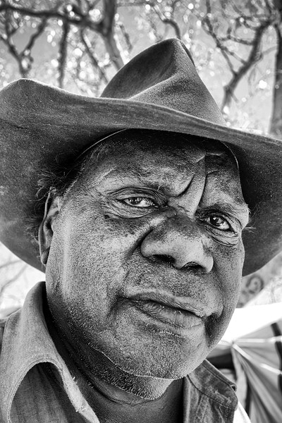 Un habitant de la communauté de Doomadgee. Golfe de Carpentarie/Queensland/Australie