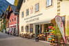 A street in Hallstatt, Austria, Europe.