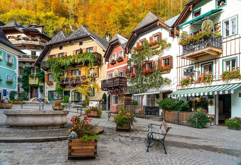 in Hallstatt, Austria, Europe.
