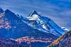 The Grossglockner mountain peak from Heiligenblut, Tyrol, Carinthia, Austria, Europe.