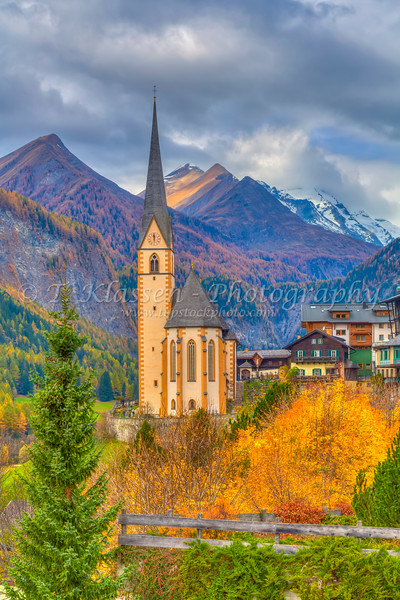 The Church of St Vincent, in Heiligenblut, Tyrol, Carinthia, Austria, Europe.
