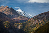 The Grossglockner mountain peak from Heiligenblut, Tyrol, Carinthia, Austria, Europe.