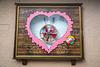 A decorative heart shaped  wall display in Heiligenblut, Tyrol, Carinthia, Austria, Europe.