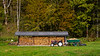 A wood storage shed near Bad Aussee, Austria, Europe.