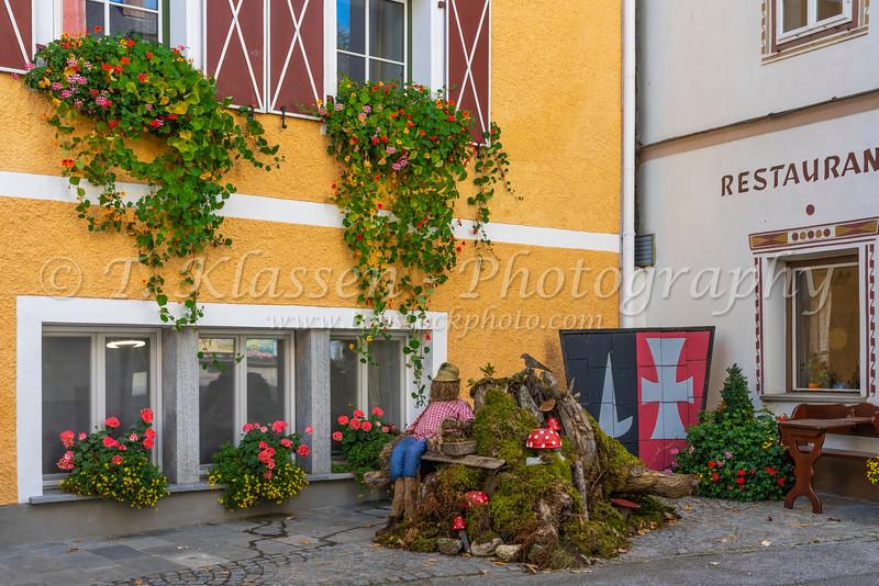 Architecture in the village of Burgmauterndorf, Austria, Europe.