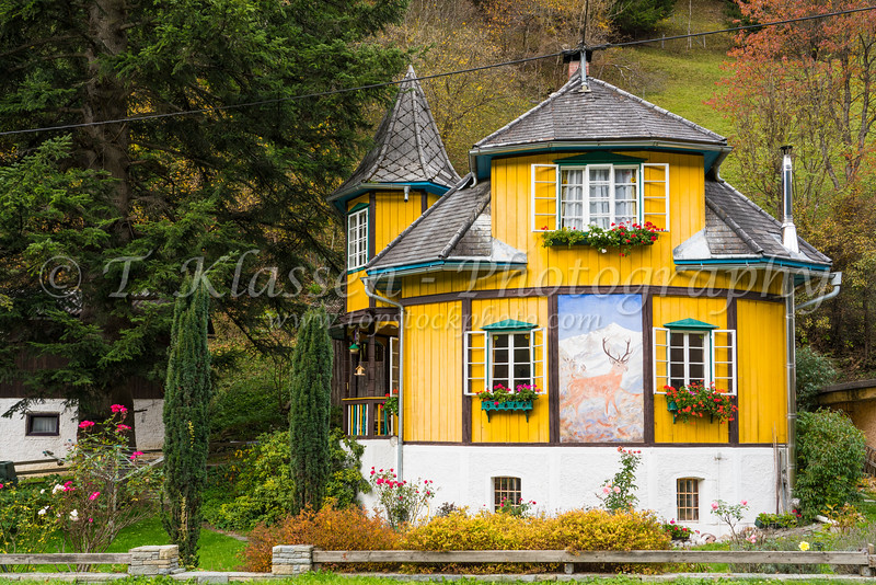 An alpine house in the mountains near Kremsbruck, Austria, Europe.