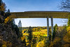 The raised Autobahn freeway over the village of Spittal, Austria, Europe.