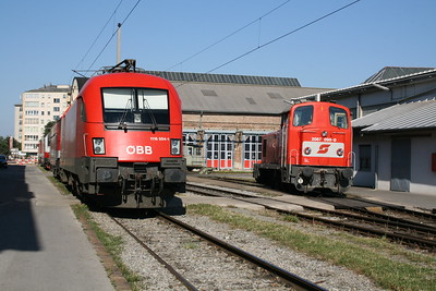 1116 004 & 2067 098 at Vienna Sud Depot on 7th August 2008