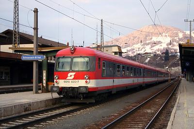 6010 023 at Schwarzach St Veit 27th March 2004