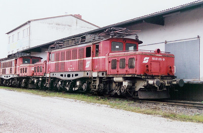 1020 012 at Linz (near old depot) on 10th October 2003