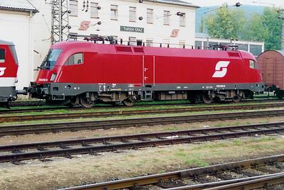 1116 072 at Graz HBF on 3rd October 2003