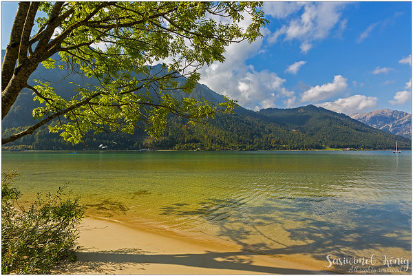 This spot of the Lake Achen, Achensee makes me feel like I'm standing on the beach !