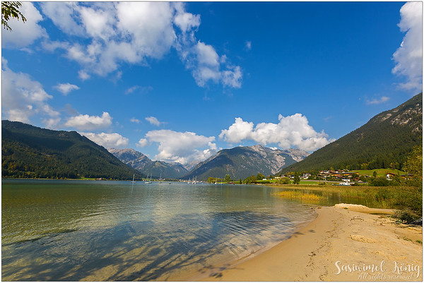 Beautiful afternoon at Lake Achen (Achensee), Austria
