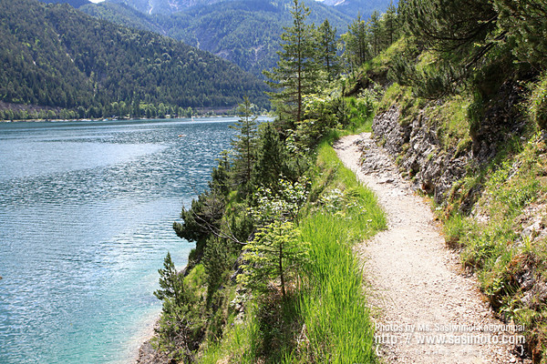 Hiking along the Achensee Lake