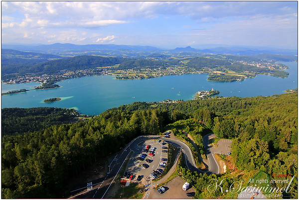 Aren't us human so small? View from the Pyramidenkogel Tower in Carinthia, Austria