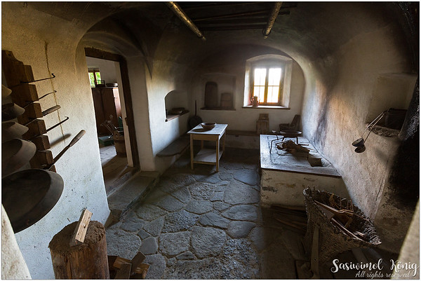 Kitchen at Dunninger Hof from Thaur, Austria. Charming!