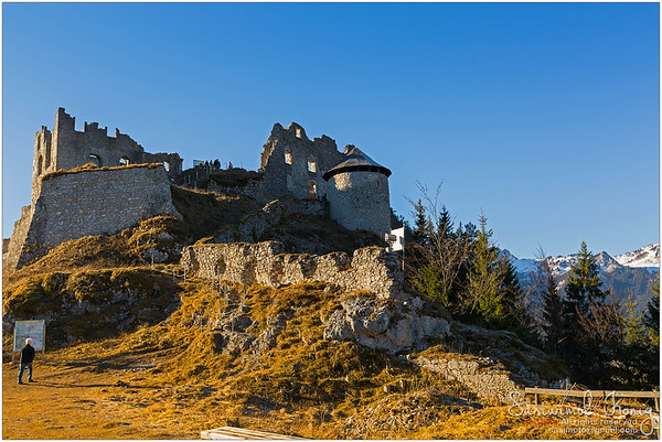 Medieval atmosphere at the Castle ruin of Ehrenberg, Austria.
