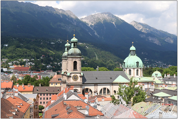 View from Stadtturm, watchtower in Innsbruck