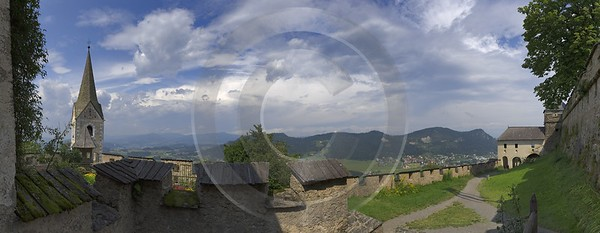 Burg Hochosterwitz Burgkapelle Mauer Panorama Aussicht Mit Prints Fine Art Photography For Sale - 003646 - 15-08-2008 - 10772x4175 Pixel