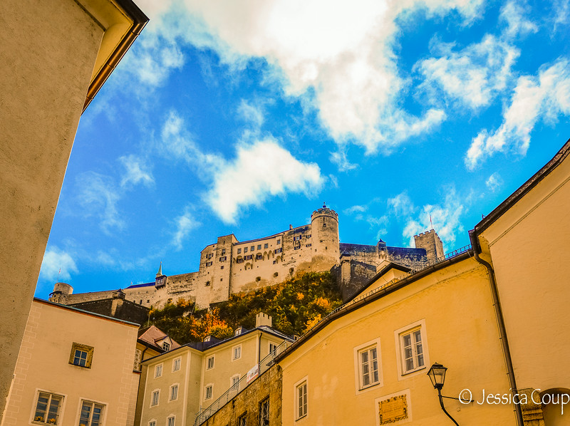Looking Up at Hohensalzburg Castle