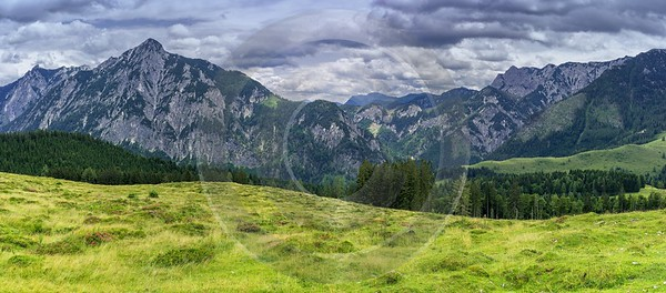 Postalm Austria Salzburg Salzkammergut Summer Panorama Barn Viewpoint Photography Prints For Sale - 024593 - 09-07-2015 - 16117x7087 Pixel