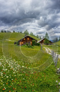 Postalm Austria Salzburg Salzkammergut Summer Panorama Barn Viewpoint Fine Art Nature Photography - 024594 - 09-07-2015 - 7171x11032 Pixel