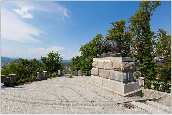Hackher lion at Castle Hill in Graz, Austria