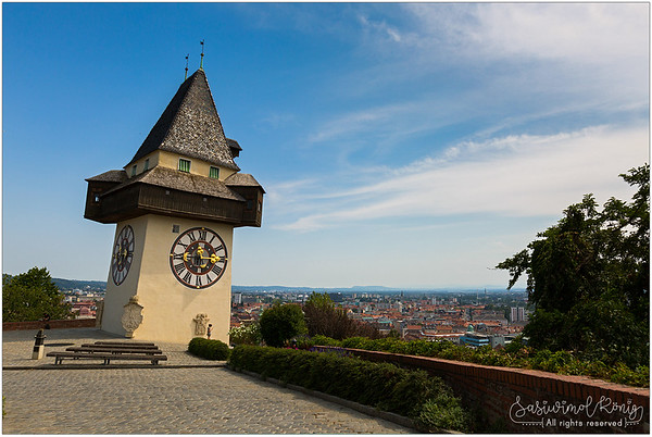 The Uhrturm and park @ Schloßberg (Graz)