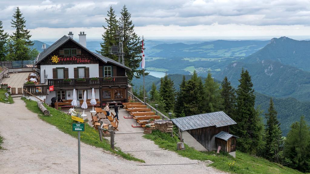 Restaurant at the top of the Zwolferhorn Mountain - St Gilgen Austria