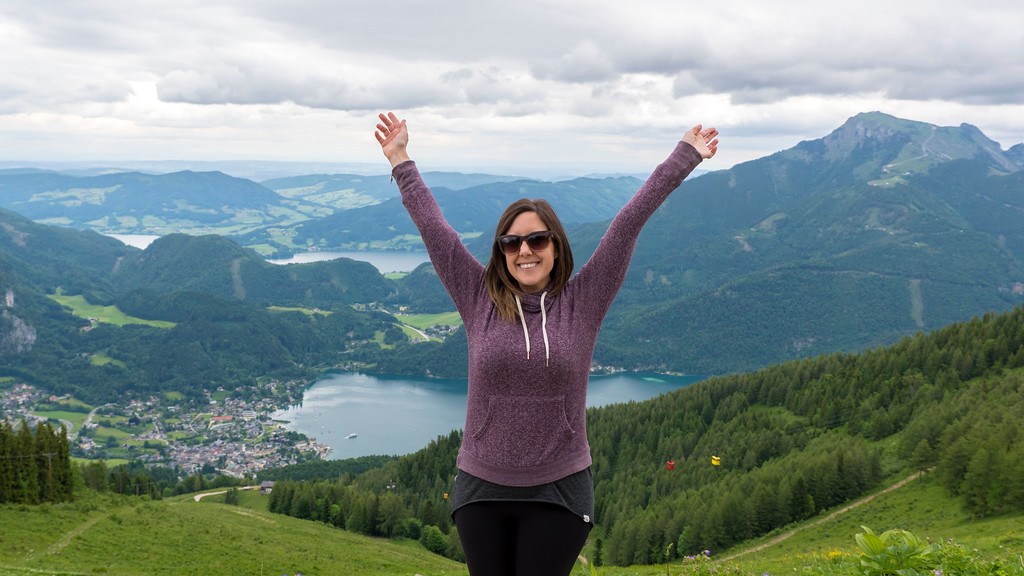 At the top of the mountains in St. Gilgen, Austria.