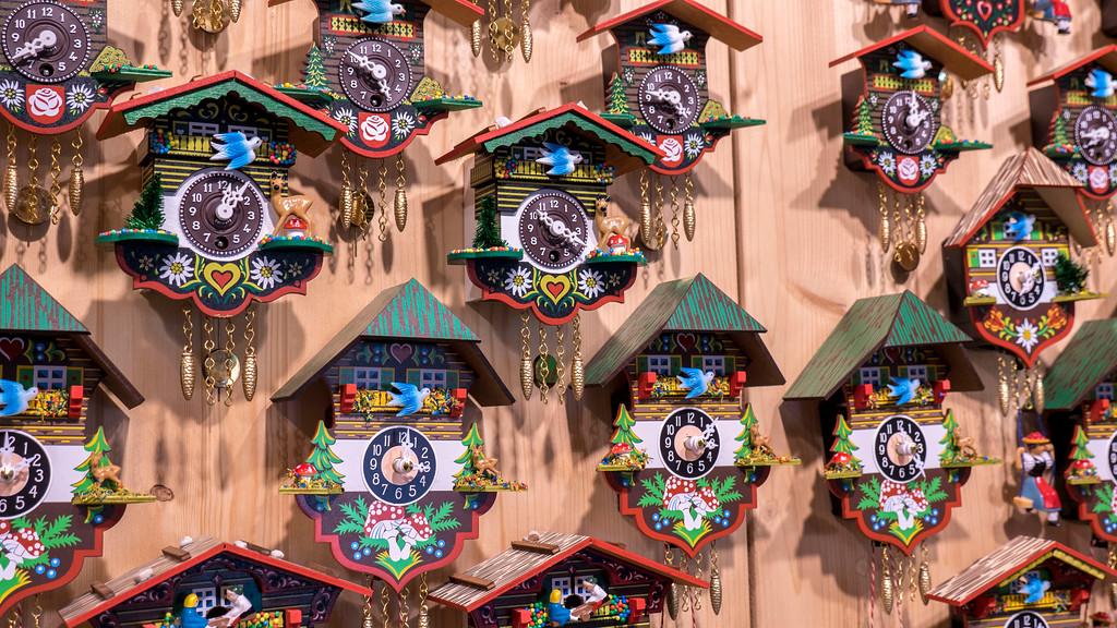 Cuckoo clocks in St Gilgen Austria