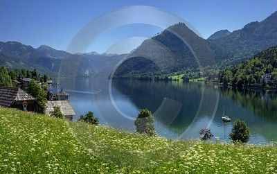 Grundlsee Steiermark Styria Lake Forest Summer Panorama Viewpoint Prints For Sale - 024694 - 11-07-2015 - 11859x7440 Pixel