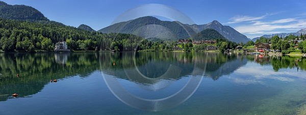 Grundlsee Steiermark Styria Lake Forest Summer Panorama Viewpoint Landscape River Stock Autumn - 024692 - 11-07-2015 - 19110x7193 Pixel