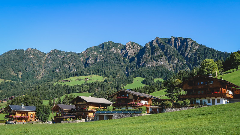 The scenery in the outskirts of Alpbachtal, Tyrol.